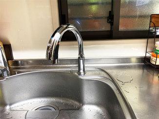 小工事 湯水の切り替えもカンタン!家事がラクになるハンズフリー水栓